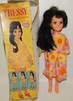 "Vtg 1970 Sears Exclusive 19"" Ideal Tressy Crissy Family Doll Black Hair Blue Eye"