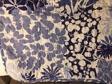 "Nicole Miller Home Blue & White Floral Cotton Standard Pillow Sham 21"" x 27"""