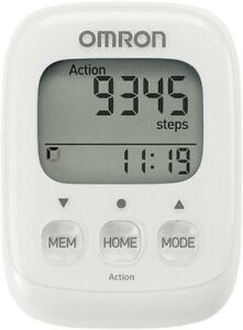 Omron HJ325-EW WHITE Walking Style IV Step Counter Pedometer Accurate 3D Sensor