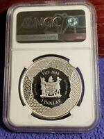 2018 FIJI $1 KLYOMORI 1 OUNCE .999 SILVER COIN NGC MS 69 Samurai Archives