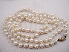 Cream Strand/String Fine Pearl Necklaces & Pendants