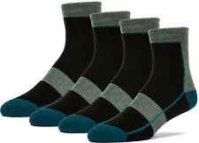 4 Pairs Premium Merino Wool Quarter-Ankle Hiking Outdoor Socks Designed in USA