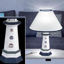 Conception en céramique lampe de table phare salon tissu interrupteur lampe neuf