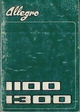 Austin Allegro Series 1 1100 & 1300 1973-75 Original Owner's Handbook AKD 8339