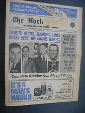 The Hockey News April 5, 1969 Vol.22 No.26 Esposito Glover Salomon Howe Apr '69