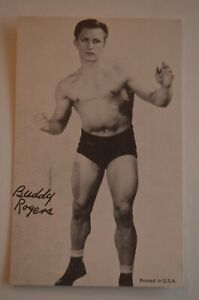 Vintage Buddy Rogers Exhibit Wrestling Card FREE SHIPPING