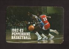 Pepperdine Waves--1982-83 Basketball Pocket Schedule