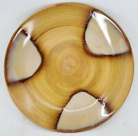 Sango Splash Brown Drip Glaze Swirl 7 3/4 Salad Dessert Plate Set Of 8