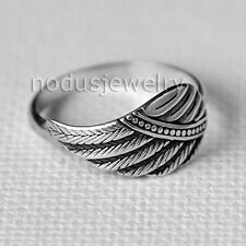 Angel wing ring, wing ring, feather ring, 925 Sterling Silver