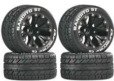 Duratrax Mounted Bandito ST 2.8 Street Tires Wheels (4) Nitro Stampede / Rustler