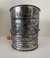 Vintage Bromwell's 3 Cup Flour Sifter Hand Crank Kitchen Utensil Made in U.S.A.