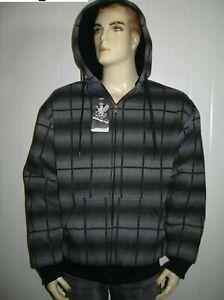 Men's & Ladies  Check Pattern Hoodie Jacket Jumper With Full Polar Fleece Lining