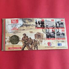 1994 ROYAL MINT D-DAY LANDINGS 50 PENCE  B/UNC - coin cover