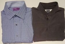 2 Mens LORENZO UOMO CITY STREETS Shirts 17 17.5 XL XLG 32/33 Extra Large Long SL