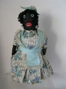 "RARE! Antique Primitive Americana  Doll  DOOR STOP  13"" ALL ORIGINAL 1930's"