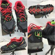 New Balance 610 V2 Sz 6.5 B Women Black Neon Running Shoes Mint YGI E8