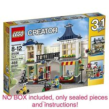Lego Set 31036, Toy & Grocery Shop, 466 pieces, 3-IN-1, NO BOX