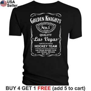 Las Vegas Golden Knights T-Shirt JD Whiskey Graphic Men Cotton Whisky