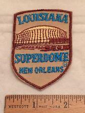 Vintage New Orleans Louisiana LA SUPERDOME Stadium Arena Souvenir Patch Badge