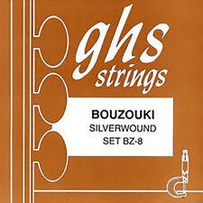 GHS BZ-8 Silverwound 8-String Bouzouki Strings, Loop End, 11-28