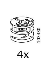 4 IKEA  Cam Lock Nuts  Part # 103430