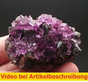 7653 Fluorite Sphalerite ca 5*6*3 cm  1990 Gordonsville Mine Tennessee USA MOVIE