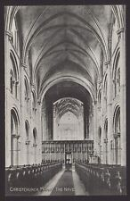 Dorset. Christchurch. Christchurch Priory. The Nave - Early Printed Postcard