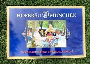 NEW Hofbrau Munchen Germany Beer Metal Sign The Original Brew of Bavarian Kings!