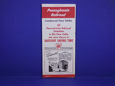 1957 Pennsylvania Railroad Timetable 4/28 Condensed All Daylight Form 2 1st Ed.