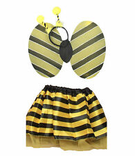 Girls Bumble Bee Set of Satin TuTu With Wings and Deeley Bopper Fairy Outfit