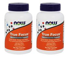 Now Foods True Focus Neurotransmitter Support - 90 Veggie Caps (Pack of 2)