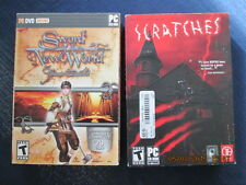 2 pc cd-rom software TEEN SWORD OF THE NEW WORLD & SCRATCHES brand new