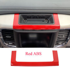 Red ABS Center Console Storage Box Decorative Cover Fit For Dodge RAM 2010-2017