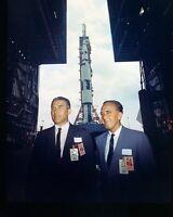 WERNHER VON BRAUN & KURT DEBUS AT SATURN 500F ROLLOUT - 8X10 NASA PHOTO (EP-546)