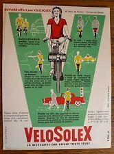 Buvard moto velo Solex cyclomoteur motobecane parfait état d'origine.