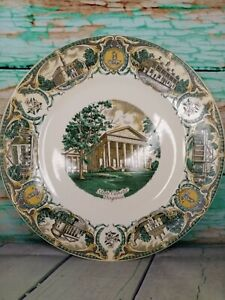 LARGE Vintage Virginia Souvenir Plate Richmond Capital Mount Vernon Monticello