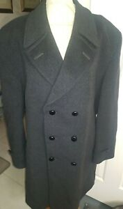 """Men's Classic by Berwin Wool Cashmere Double Breasted Coat  Overcoat Size 46"""""""