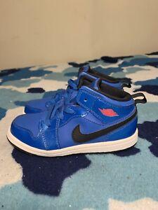 "Toddler Nike Air Jordan 1 ""Sport Blue"" Mid  Athletic Shoes Size 10c 640735-423"