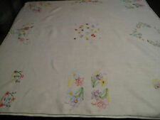 Linen Table Linens English Antique Embroidery