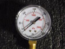 """Test Pressure Gauge 2-1/2"""" 3000PSI, 4FLW8, (MG)"""
