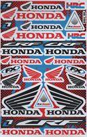 1x Decals Wings Honda HRC FX Racing Stickers Sheet Emblem Motorcycle Racing S14