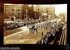 Navy & Marine Drum & Bugle Corps 1941 American Legion Parade Milwaukee WI rppc