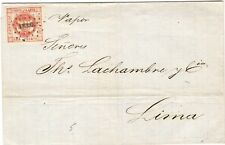 Peru 1860 Cover AREQUIPA to LIMA