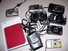 Lot Of 8 Cameras, Vivitar, Fuji, Pentax, Kyocera, Kodak Easy Share Dx 6340 + 2