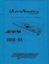 ULTRANAUTICS 88-91 JetStar PARTS MANUAL for CERTIFIED PARTS