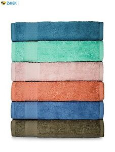 6 Pack Luxury Hotel Spa Towel 100% Cotton Hand Towels Set of 6 Assorted Colors