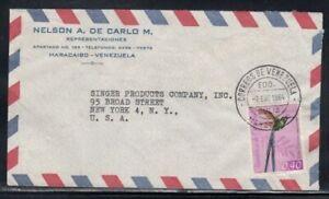 VENEZUELA Commercial Cover Maracaibo to New York City 7-1-1964 Cancel