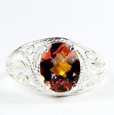 Twilight Fire Topaz, 925 Sterling Silver Ladies Ring-Handmade, SR083