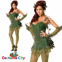 Adult Womens Official DC Poison Ivy Batman Fancy Dress Sexy Halloween Costume