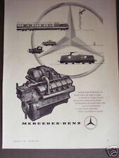 1958 vintage AD Mercedes Benz diesel Train Engine